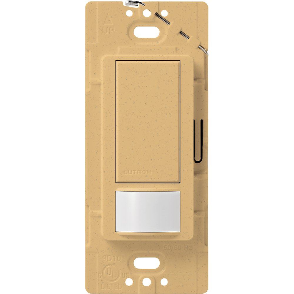 Lutron Maestro Sensor switch, 2A, No Neutral Required, Single-Pole, MS-OPS2-GS, Gold Stone