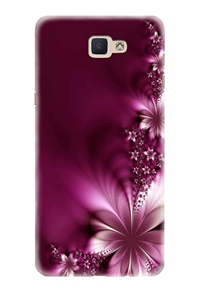 buy popular d34e3 64031 Hupshy Printed Back Cover For Samsung Galaxy J7 Prime - Purple