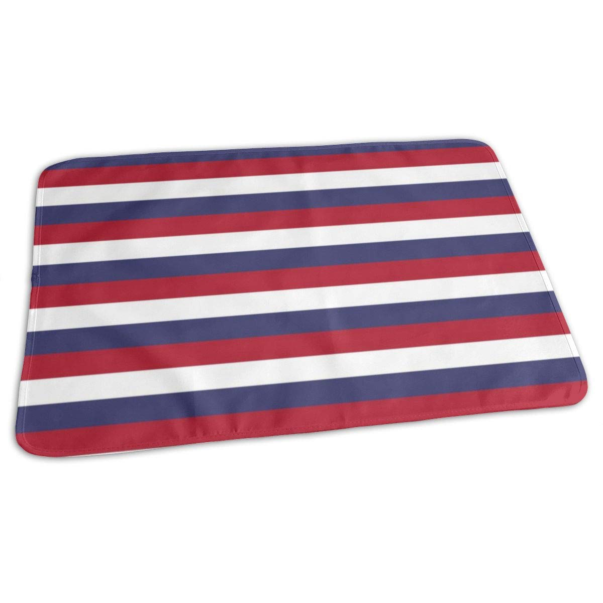 USA Flag Red, White And Blue Stripes Baby Portable Reusable Changing Pad Mat 19.7x27.5 inch