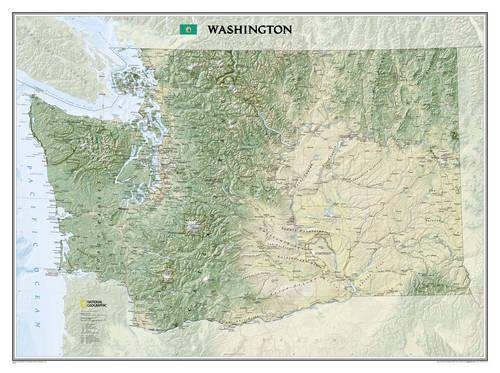 Oregon Wall Map (Washington [Tubed] (National Geographic Reference Map))