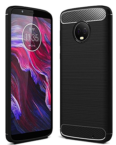 Golden Sand TPU Back Case Cover for Motorola Moto G6 Plus  Black