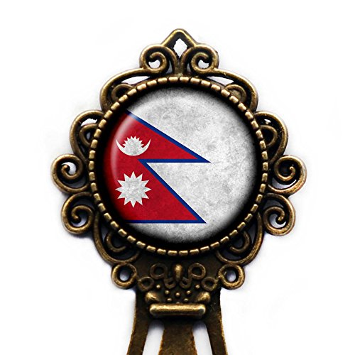 Nepal Nepalese Flag Bronze Bookmark