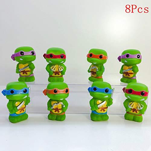 8PCS Ninja Turtles Cake