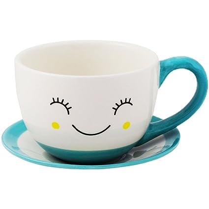 Amazon.com: Ivyline Sow the Seed of Happiness Indoor Tom Teacup ...