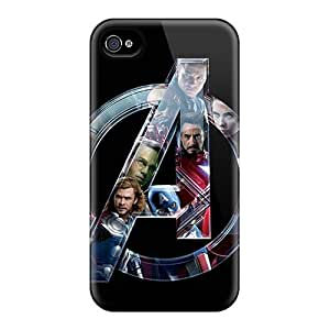Snap-on The Avengers Super Heroes Case Cover For Apple Iphone 4/4S kin Compatible With Iphone 5/5S