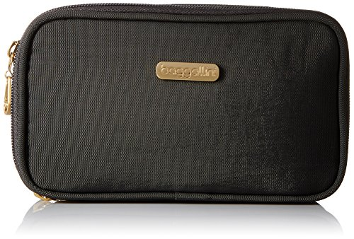 Baggallini Gold International Vienna Case CHR Cosmetic Bag, Charcoal, One Size