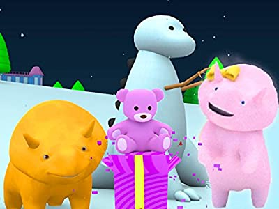 Learn colors and numbers with Dino and Dina The Dinosaurs : Christmas presents / Snowdino for Christmas