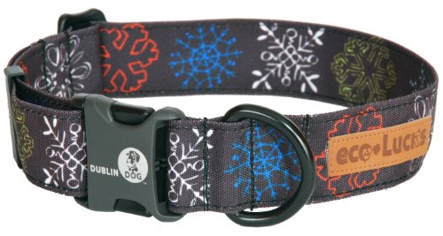 "eco-Lucks Holiday Dog Collar, Urban Ice, Small 10"" x 15"""