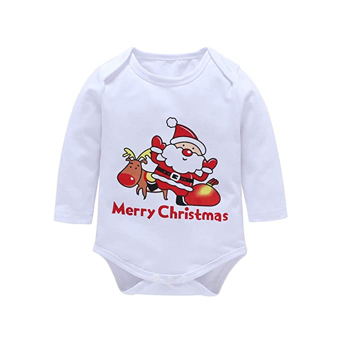 ❤ Conjunto para el bebé de Navidad, Baby Boy Infantil Girls Letter Print Christmas Romper Pants Headwear Diadema Absolute: Amazon.es: Ropa y accesorios