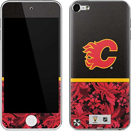 (NHL Calgary Flames iPod Touch (5th Gen&2012) Skin - Calgary Flames Retro Tropical Print Vinyl Decal Skin For Your iPod Touch (5th Gen&2012))