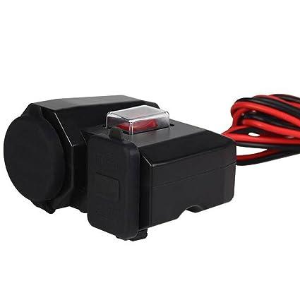 Moto Adaptador Cargador Dual USB Impermeable Encendedor de ...