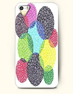 SevenArc New Apple iphone 5 / 5S Hard Back Case - MANDALA CIRCLE - Colorful Overlapped Mandala Pattern Circle