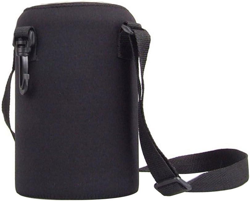 2L//2000ml Travel Stainless Steel Tea Water Bottle Carrier Insulated Bag Holder