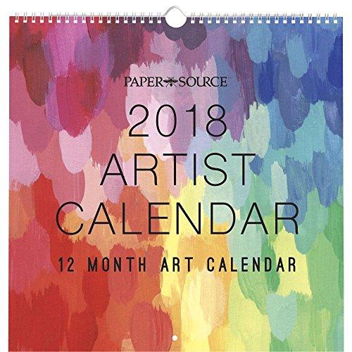Artist Calendar Wall Calendar (Paper Source Wall Calendar)