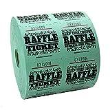 Green Raffle Tickets : roll of 1000