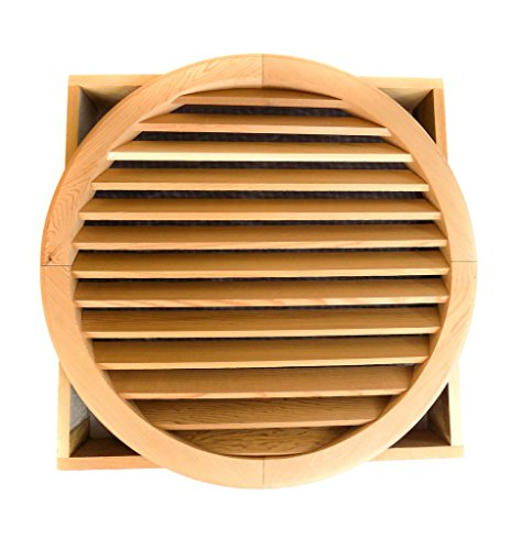 Miller Shingle Round Clear Cedar Vent, Recessed Mount - 24 inch -