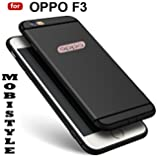 """DISCOUNTED OFFER PRICE FOR OPPO F3 [MOBISTYLE] """"360 Degree"""" Soft Silicone With Anti Dust Plugs Shockproof Slim Back Cover For OPPO F3 (BLACK WITH SHINING LINE)"""