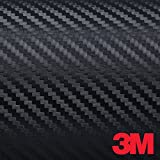 Foglio pellicola adesivo carbonio carbon look 3M 35 x 50 cm