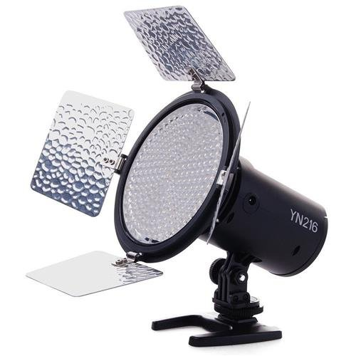 YONGNUO YN216 3200K-5500K LED Video Light Camera Shoot with 4 Color Plates for Canon Nikon DSLR Camera YN216 PRO