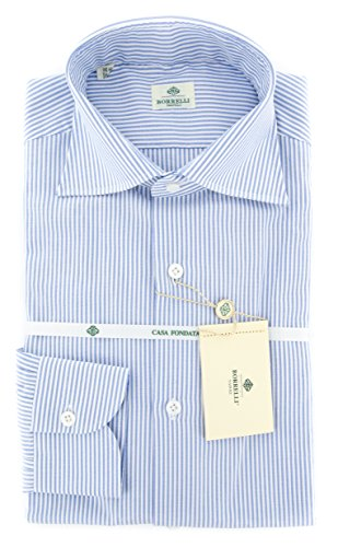 new-luigi-borrelli-blue-striped-slim-shirt