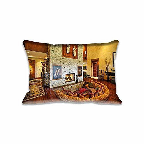 Renee Juliana Room With Fireplace Pillowcase inch Two Sides Comfortable Zippered Pillow Cover Cases for Kids Family Gift by Renee Juliana