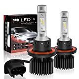 headlights for 2007 hummer h3 - H13/9008 LED Headlight Bulbs Conversion Kit, DOT Approved, Dual High/Low Beam, SEALIGHT X1 Series Xenon White 6000K, 1 Yr Warranty (Pack of 2)