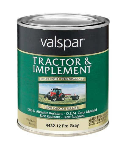 - Valspar 4432-13 Ford Gray Tractor and Implement Paint - 1 Quart