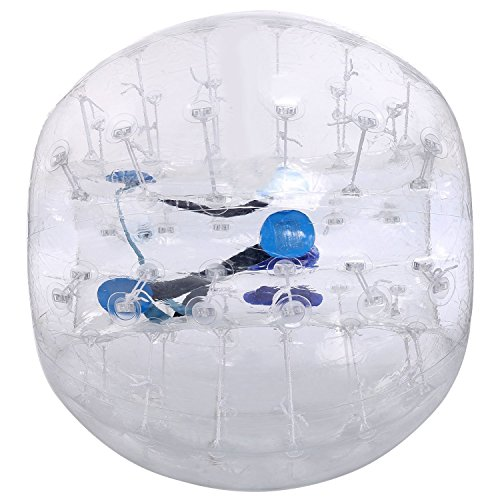 Anfan 1.2~1.5M Inflatable Bumper Ball 25.6 in Diameter Bubble Soccer Ball Transparent Material Human Knocker Ball Zorb Ball for Adults and Child (Transparent, 1.2M)