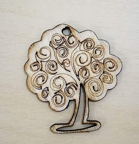 30 PEZZI Albero della vita in legno decorazione bomboniera Subitodisponibile