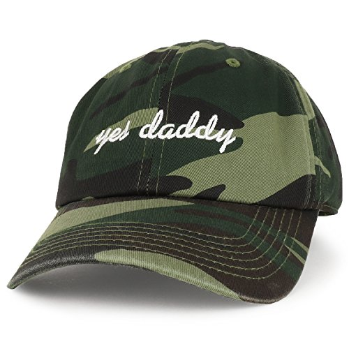 Trendy Apparel Shop Yes Daddy Embroidered Low Profile Deluxe Cotton Cap Dad Hat (One Size, ()