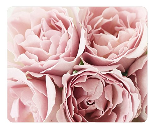 Mouse Pad Pink Roses 36230 Oblong Shaped Mouse Mat Design Natural Eco Rubber Durable Computer Desk Stationery