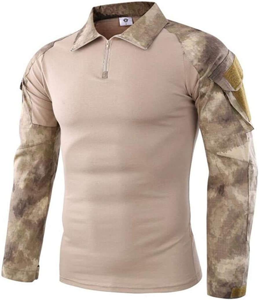 Men Military Camo Combat Proven Shirts Rapid Assault Long Sleeve Tactical Tops