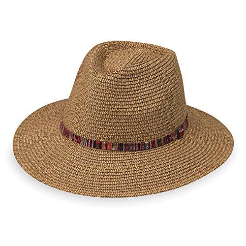 Wallaroo Hat Company Women's Sedona Fedora - Camel - UPF 50+, Aztec Flair