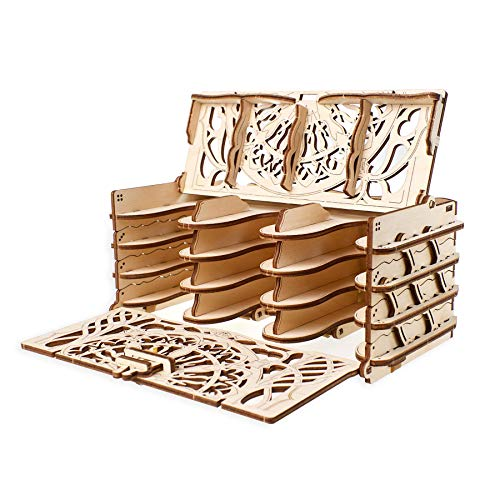 Ugears Wooden Card Holder for Board Games, DIY,