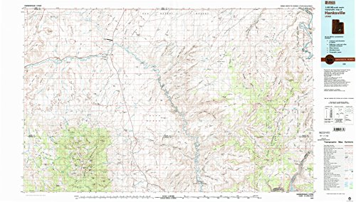 Hanksville UT topo map, 1:100000 scale, 30 X 60 Minute, Historical, 1980, updated 1987, 24.1 x 42.5 IN - Tyvek (Wash Sweetwater)