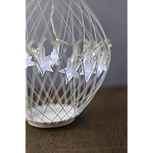 LED Solar Star White Metal Hanging Lantern - Excellent Home Decor - Indoor & Outdoor 5