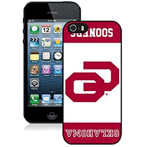 Beautiful Designed With NCAA Big 12 Conference Big12 Football Oklahoma Sooners 4 Protective Cell Phone Hardshell Cover Case For iPhone 5S Phone Case Black