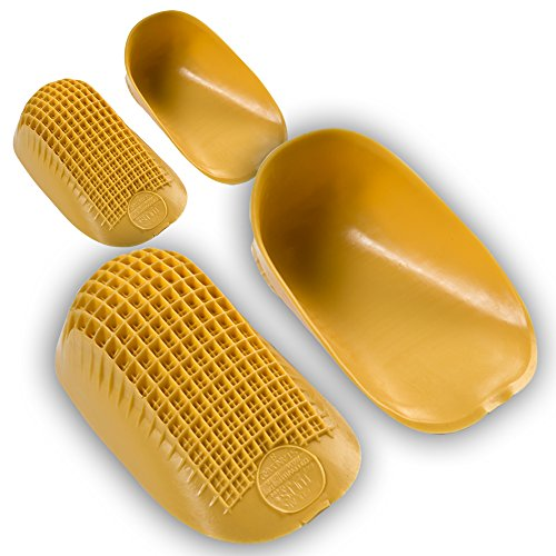 "Tuli's Classic Heel Cups ""Yellow"" with Lifetime Warranty (Twin Pack) - for Heel Pain and Plantar Fasciitis (Regular, Under 175lbs)"