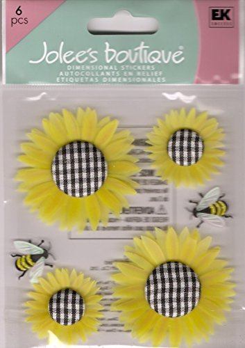 JOLEES Boutique Dimensional Sticker - - Sunflowers Stickers Dimensional