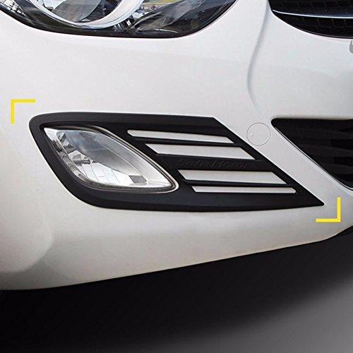 K-019 Black Matt Fog Lamp Cover Molding Trim Guard for Hyundai Elantra/AVANTE MD 2011-2013 (Trim Matt Exterior)