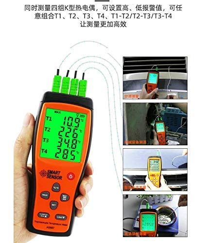 AS887 K Type Four-Channel thermocouple Thermometer Contact Digital Thermometer