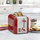 Cuisinart CPT-320 2-Slice Compact Toaster, Stainless Steel/Red