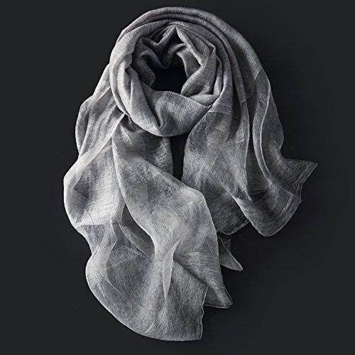 Inverno Scaldamuscoli Sottile Solido polvere Di Crl Lungo Femminile Colore Scialle Sciarpa Autunno Scaldamuscoli Seta Grigio E zIOqP