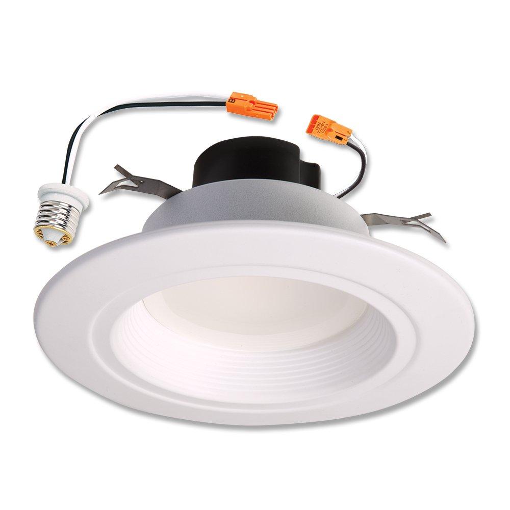 Halo Recessed RL560WH6935 600 lm 90 CRI LED Retrofit with White Baffle Trim, 5/6, Cool White 5/6 Cooper Lighting
