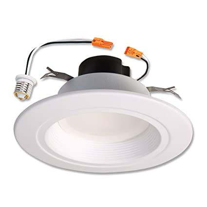 halo rl 5 in and 6 in matte white integrated led recessed retrofit