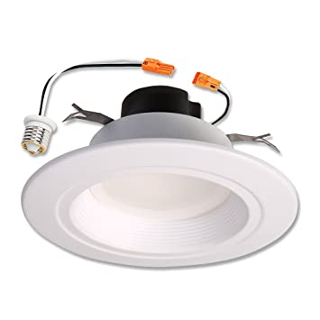 Amazon halo 80cri led recessed retrofit rl light with baffle halo 80cri led recessed retrofit rl light with baffle trim 56 inch mozeypictures Image collections