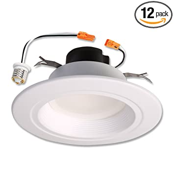 Amazon halo 90cri led recessed retrofit rl light with baffle halo 90cri led recessed retrofit rl light with baffle trim 56 inch aloadofball