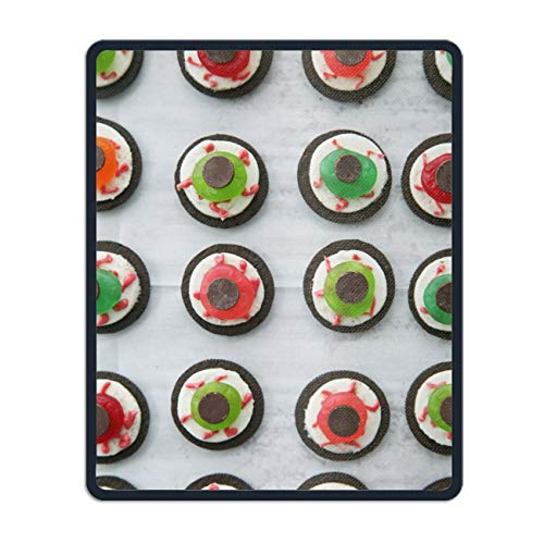 Halloween Eyeball Dessert Mouse Pad Non-Slip Rubber Mousepad Custom Gaming Rectangle Rug