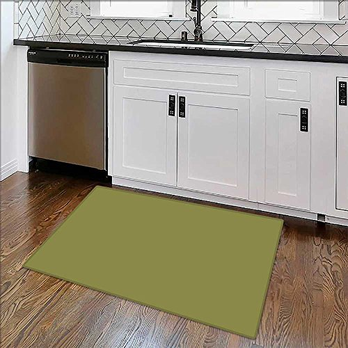 Artistic Rugs Green Background Abstract Blur Design Graphic Bath Mat Non Slip Absorbent W22 x H12