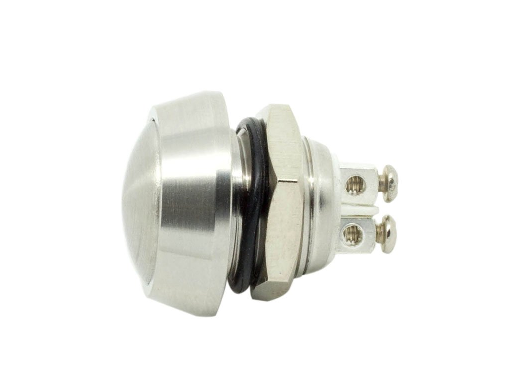 Alpinetech 12mm 1//2 Anti-Vandal Stainless Steel Momentary Metal Push Button Switch Screw Terminal Dome Button Normally Open 1NO